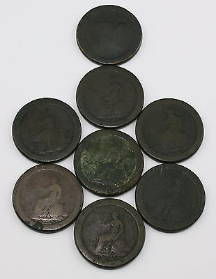 Collection of 8 x 1797 George III Cartwheel 1d One Penny Coins (LZ9)