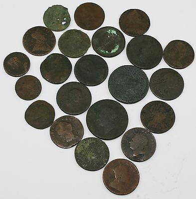 Collection of 22 Copper Coins from George III & Others (LZ11)