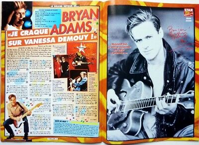 BRYAN ADAMS => 2 pages 1996 FRENCH clipping  (FREE SHIPPING !!!)