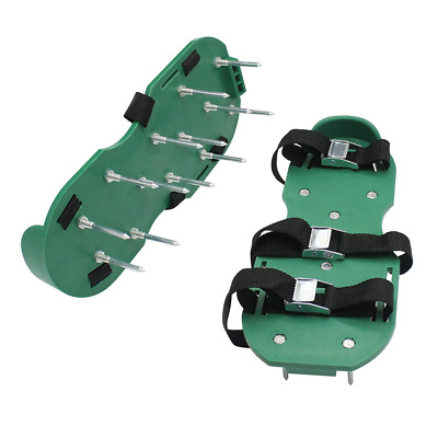 Maggift Lawn Aerator Shoes Nylon, Grass shoes Spikes 3 Straps with Metal Buckles