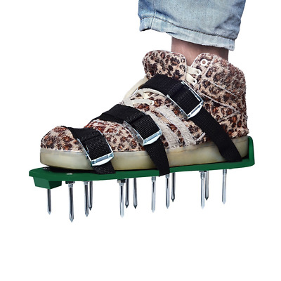 Lawn Aerator Shoes, UNIFUN Pair of Spikes Aerator Sandals with Metal Buckles and