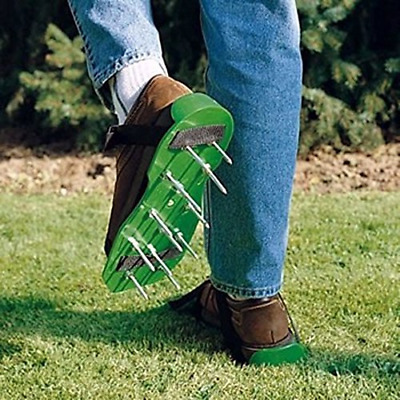 MWGears Lawn Aerator Shoes w/Plastic Buckles and 3 Straps - Heavy Duty Spiked Sa