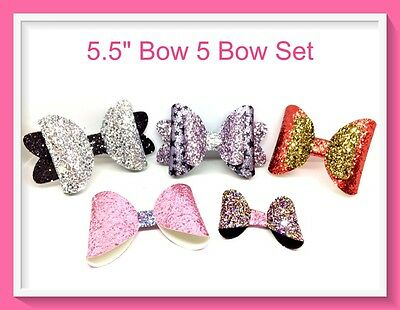 "LARGE 5.5"" Hair Bow Templates Make Your Own Hair Bows- Clips-Slides-Bands"
