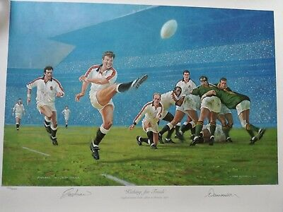 Magnificent Signed Rob Andrew  England  Rugby Print- Look!!
