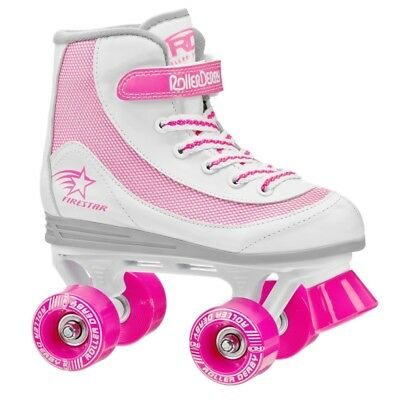 Roller Derby FireStar Quad/Roller Skates - Girls - US 2 - Pink