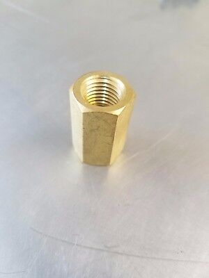 "Solid Brass Hex Pipe Coupling 1/4"" Female NPT  Air Fuel Gas Water"
