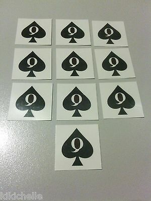 Queen of Spades Temporary Tattoos x 5, Hotwife, QOS, Cuckold, Fetish, Role Play