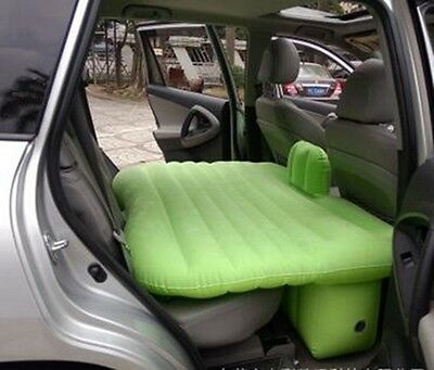 Green Inflatable Travel Holiday Sleep Rest Camping Car Back Seat Air Bed
