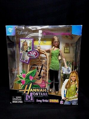 Disney Hannah Montana Song Writin' Swing Doll Set With Hanging Chair New