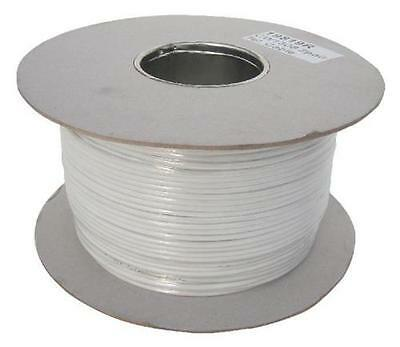 Large 200 Mtr  Reel 4 Core 2 Pair Internal BT Telephone  Cable  White