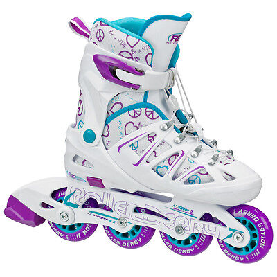 Roller Derby Stinger 5.2 Adjustable Inline Skates/Rollerblades Girls US J12-2