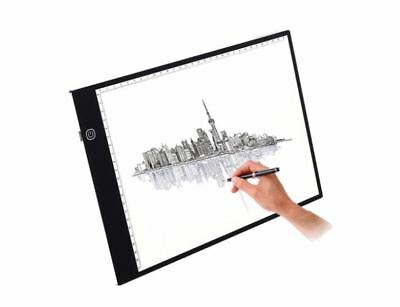 Professional Drawing Board LED Copy Board A4 Super Thin 3-levels Lights NEW