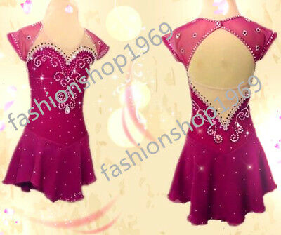 2017 New Ice Figure Skating Dress  Figure skaitng Dress  For Competition xx486