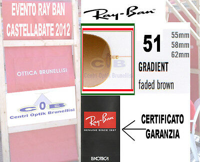 Ray Ban 3025 aviator Large Lenti Ricambio 51 GradientBrown 55 Replacement Lenses