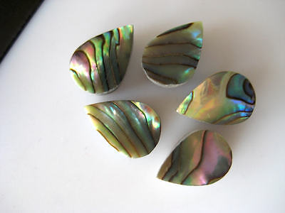 10 Pieces Natural Mother of Pearl Pear Shaped Cabochons Flat Back 8x11mm BB152