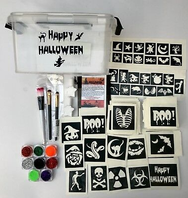 halloween glitter tattoo 158 stencil kit in a clippy box OR top up refills
