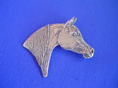 #37F Arabian Horse Head pin saluki Pewter horse dog jewelry by Cindy A. Conter