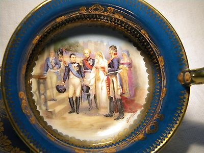 Vienna Austria Thun Napoleon & Queen Prussia At Tilsit After Gosse Cup Saucer