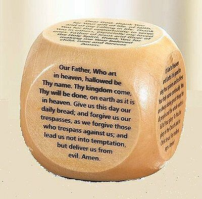 Wooden Prayer Cube Religious Gift Small Wooden Prayer Cube Serenity Peace New