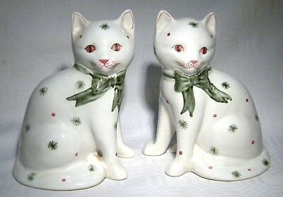 Rye Pottery Pair Mantle Cats