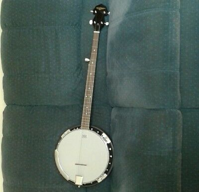 Nearly New Countryman 5 String Banjo with padded hard case
