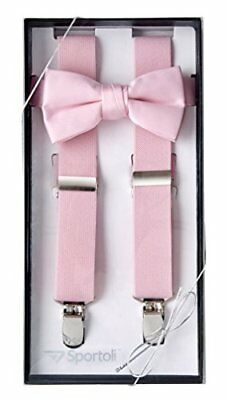 Sportoli8482 Kids and Baby Elastic Adjustable Solid Suspender and Bow Tie Gif...