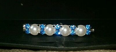 Pearl & crystal dressage Stock Pins made in your choice of colours.