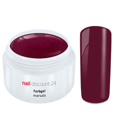 Color UV Gel FARBGEL MARSALA 5ml Frenchgel Modellage Nail Naildesign Nägel