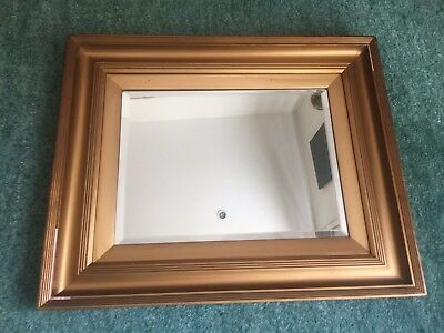 Antique Gilt Wood Bevelled Wall Mirror