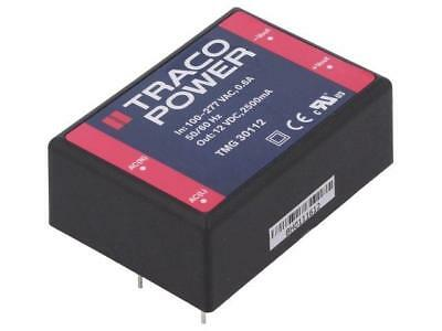TMG30112 Converter AC/DC 30W Uout12VDC Iout2500mA 89% Mounting PCB TRACO POWER