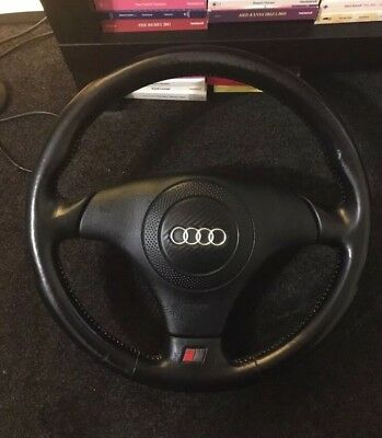 Audi S4 B5 Black Leather Steering Wheel With Airbag
