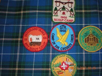 J60  5  boy scouts Canada different 1960'sused scout camps badges patches cheap