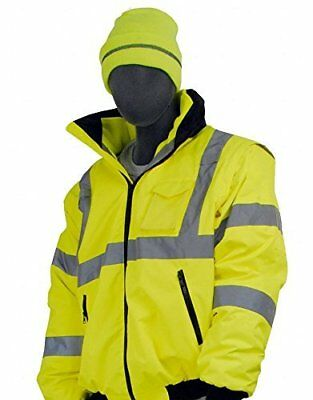 Majestic Glove 75-1300 PU Coated Polyester High Visibility Bomber Jacket with...