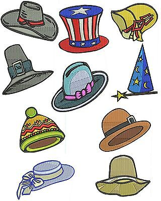 Hats 2  Machine Embroidery Designs, Funny Hats Embroidery Designs, TSN Designs