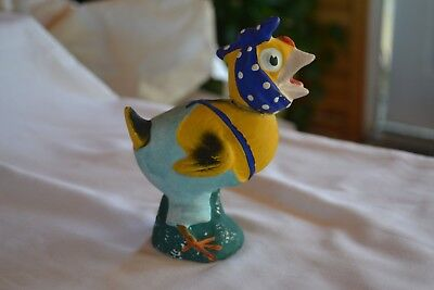 Paper Mache Chick Candy Container Early 1900's