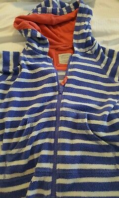 Mini Boden Girls Fleece Hoodie, Age 5-6 Years Towelling material