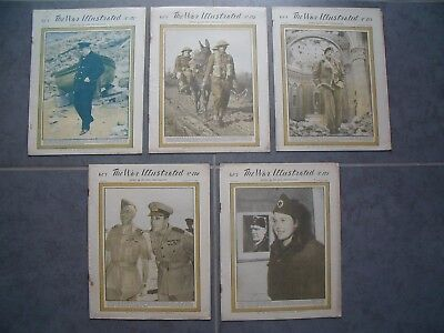 5x Original WW2 The War Illustrated Magazine Newspapers 171 172 173 174 175