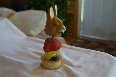 Paper Mache Rabbit Candy Container Nodder Early 1900's