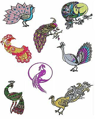 Peacock Machine Embroidery Designs, Bird Embroidery Designs, TSN Designs