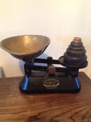 Vintage Brass And Cast Iron Balance Scales The Viking