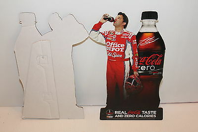 Tony Stewart Coca Cola Zero Table Top Stand Up Standee Sign Office Depot