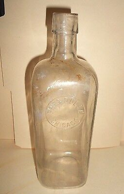 Vintage Fred Dolle Chicago Bottle Barber Shop Supplies Store Medicine Drug Hair