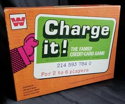 Vintage 1972 CHARGE IT! Family Credit Card Game Whitman Complete New, Old Stock