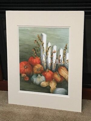 Fall Harvest Matted Art Print