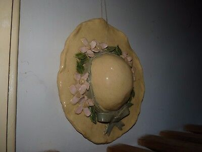 wall plaque in form a woman's summer hat