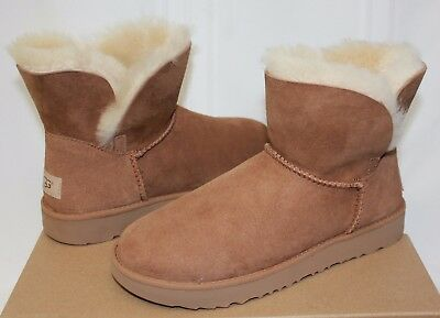 6819a064a19 UGG WOMEN'S CLASSIC Cuff Mini Chestnut Suede boots New With Box!