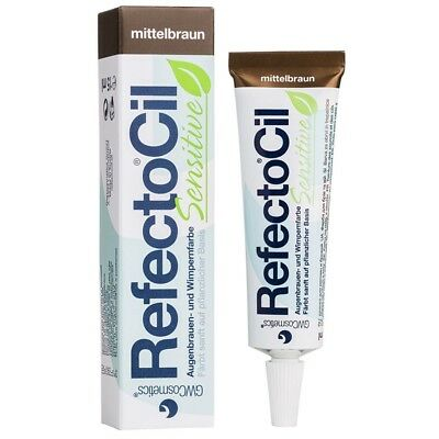 RefectoCil Sensitive Colour Gel (Medium Brown) .150ml. Shipping is Free