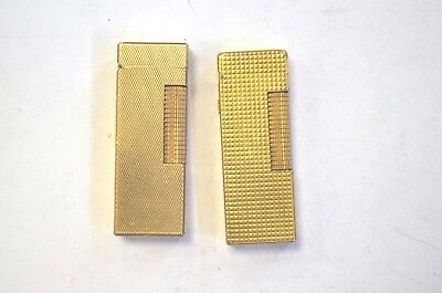 Pair of Vintage Dunhill Lighters AS/IS for parts or Repair