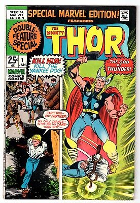 SPECIAL MARVEL EDITION #1 featuring THOR JAN 1971-reprints Thor 117/118/119 FN+