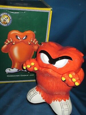 Warner Brothers Gossamer and Bugs Bunny cookie jar-retired/new in box/1996